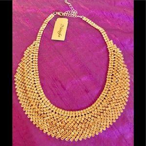 Natasha Rose Gold Statement Collar Necklace